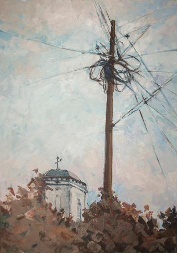 Communication   100 x 70 cm   acrylic on canvas   2010 by Olimpia Hinamatsuri Barbu