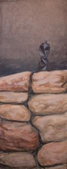 Today (Sarmizegetusa 2011)   50 x 100 cm   acrylic on canvas   2011 by Olimpia Hinamatsuri Barbu
