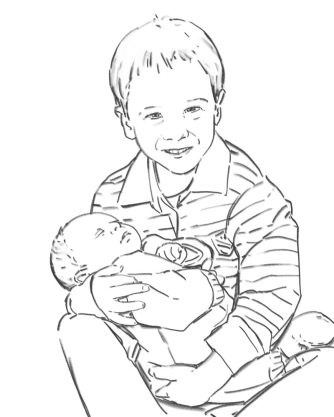 Brothers - digital drawing by Olimpia Hinamatsuri Barbu