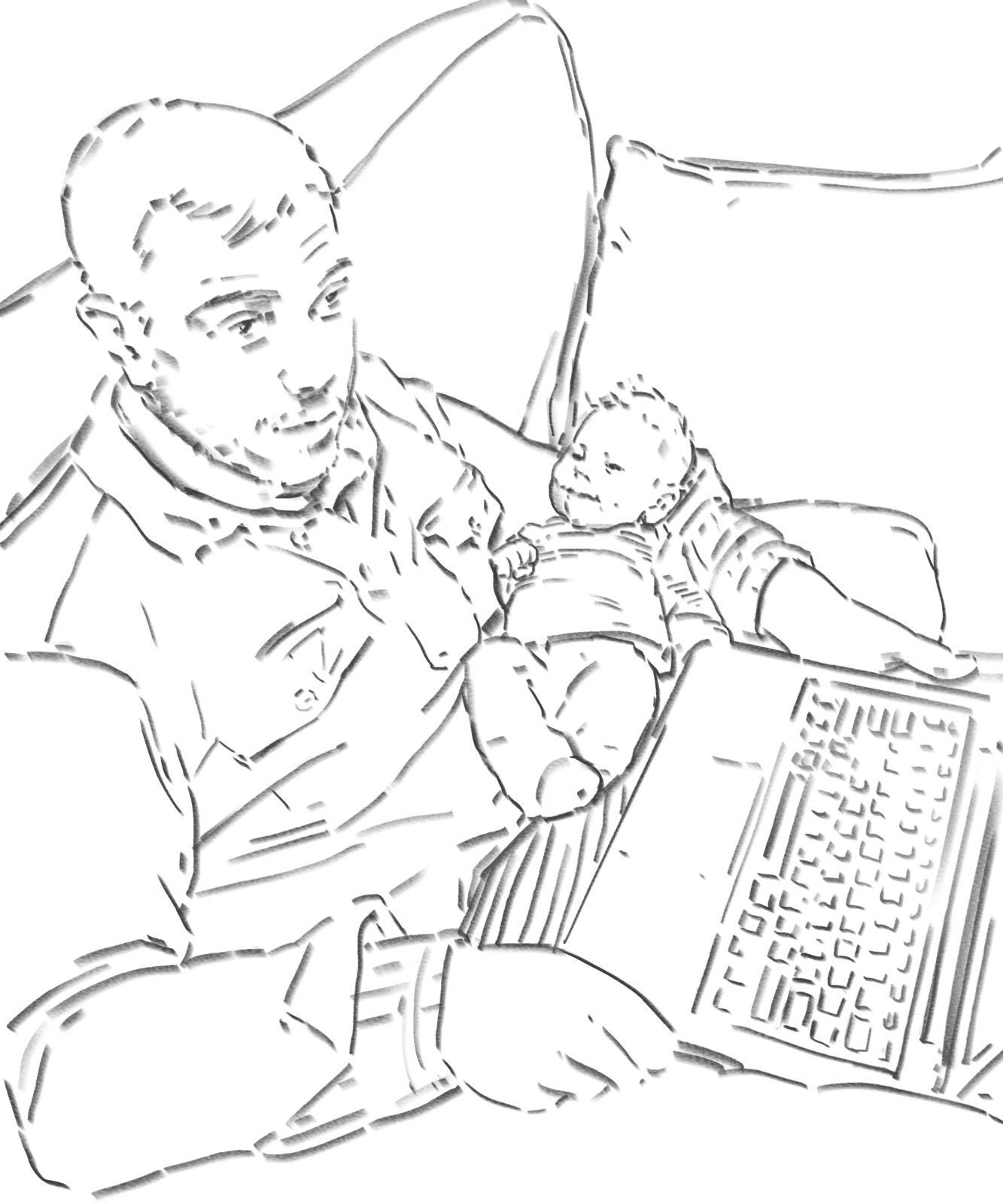Sing me to sleep, daddy - digital drawing by Olimpia Hinamatsuri Barbu