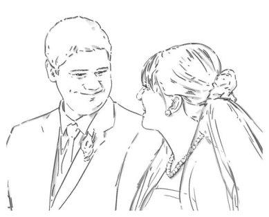 Love at first sight - digital drawing by Olimpia Hinamatsuri Barbu
