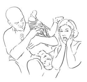 Fatherhood - digital drawing by Olimpia Hinamatsuri Barbu