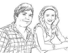 Best friends - digital drawing by Olimpia Hinamatsuri Barbu