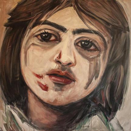 Aleppo today | 120 x 120 cm | acrylic on canvas | 2016 by Olimpia Hinamatsuri Barbu