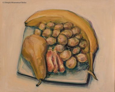 No fruits for today! | 33 x 41 cm | acrylic on canvas | 2017 by Olimpia Hinamatsuri Barbu