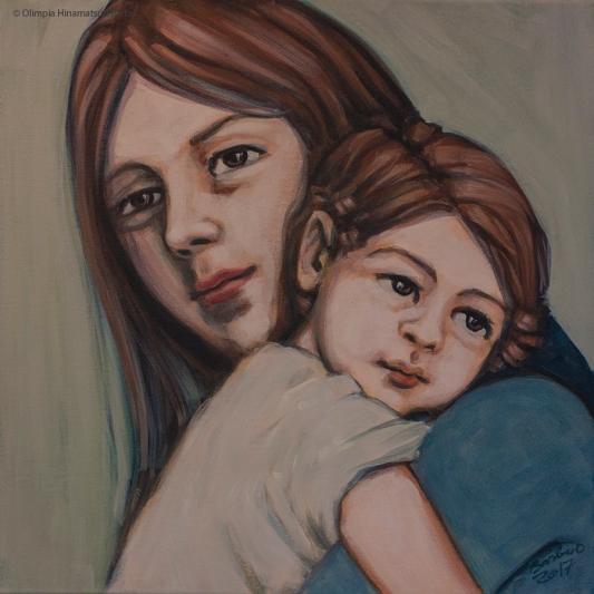Trying to remember | 50 x 50 cm | acrylic on canvas | 2017 by Olimpia Hinamatsuri Barbu