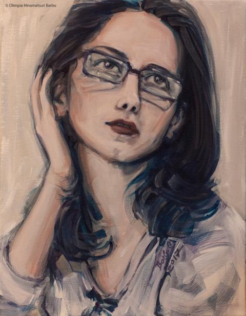 Dreaming with open eyes | 35 x 45 cm | acrylic on canvas | 2017 by Olimpia Hinamatsuri Barbu
